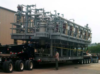 """Skid-Mounted Modular Process System Package: Hot Coke Gas Oil Filter Package engineered-to-order and ready to """"plug in."""""""