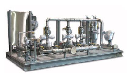 "Skid-Mounted Modular Process System Package: Heat Transfer/Hot Oil Package engineered-to-order and ready to ""plug in."""
