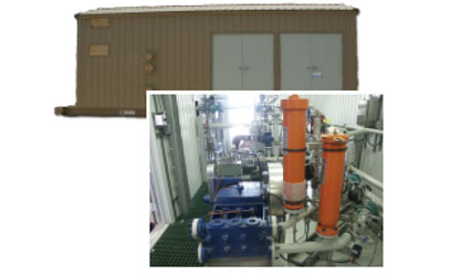 Packaged Pump System with Building with insulated building enclosure for water injection, effluent transfer, pipeline, chemical injection and firewater systems. Packages are engineered to order.