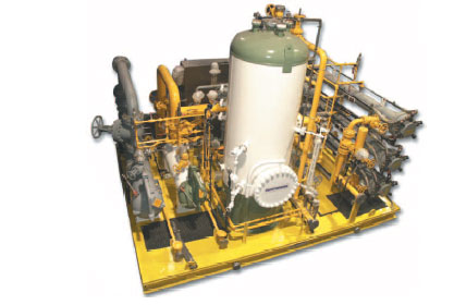 "Skid-Mounted Modular Process System Package: Membrane Package engineered-to-order and ready to ""plug in"" for natural gas engines and turbines."