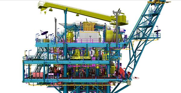 BP Angelin Topsides Platform