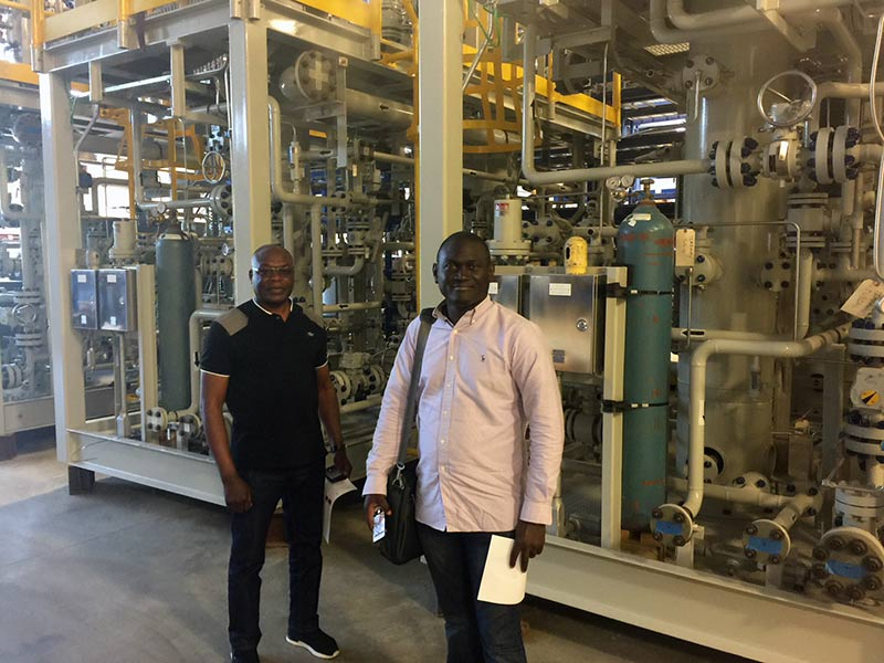 Harry Agbo with the Nigerian National Petroleum Corporation and Lukman Wahab with Mobil Producing Nigeria