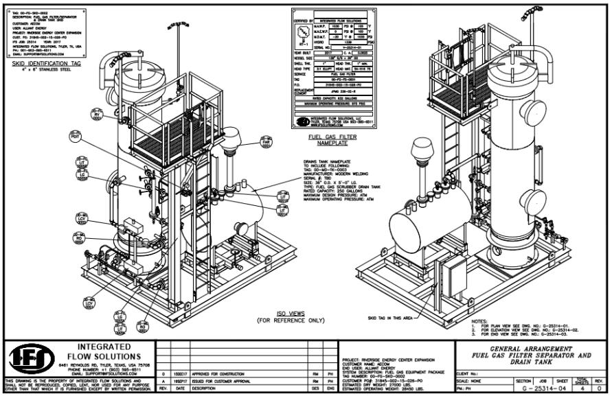AECOM fuel gas separator system
