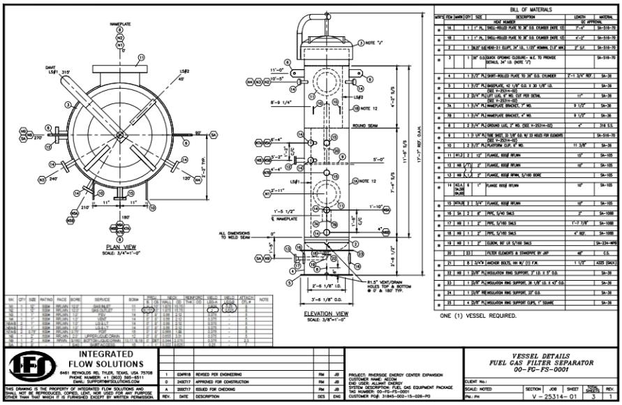 fuel gas separator AECOM