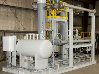 oil pipeline pressure relief system skid